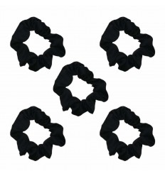 (Black) The Satin Scrunchie